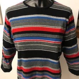 Evan Picone 100% cotton jersey. Fun stripes